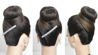 New Juda Hairstyle. Simple Hair Bun For Party
