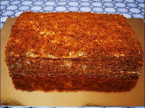 Торт Медовый АНГАРСКИЙ торт рецепт БЕЗ РАСКАТКИ КОРЖЕЙ простой доступный рецепт