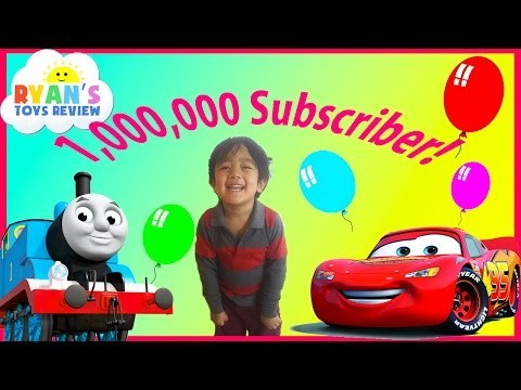 One Million Subscribers Best of Ryan ToysReview Disney Cars Thomas Trains Giant Egg Surprise Toys