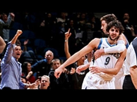 Ricky Rubio's first career Triple-Double!