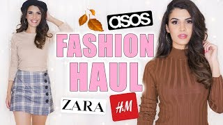 XXXL HERBST FASHION HAUL 2018 🍂 H&M, ZARA, ASOS TRY ON | KINDOFROSY
