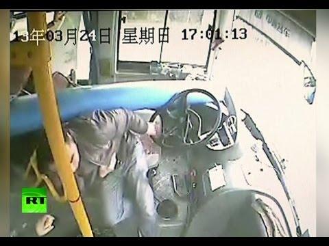 Водитель автобуса спас пассажиров от гибели