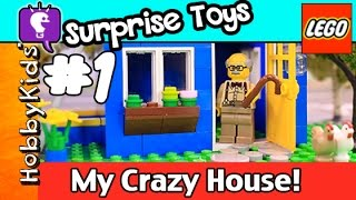 Lego Floyd #1 My CRAZY HOUSE! Simpsons Lego Minifig Surprise Bags by HobbyKidsTV HD