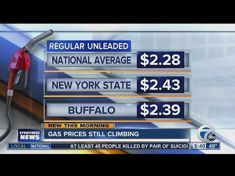 Local gas prices rise as holiday weekend nears