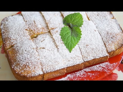 Яблочный кекс на сметане
