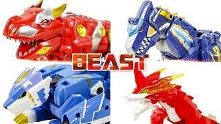 PowerRangers QRex MegaZord BattleDisk GoFireDraGon TRexDinoBot LeoMegaRoid Transformation