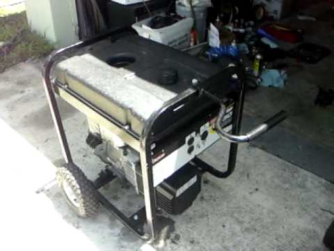 Coleman Powermate Generator with Tecumseh 10 HP engine- Backfires a little