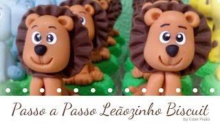 Passo a passo Leãozinho Biscuit