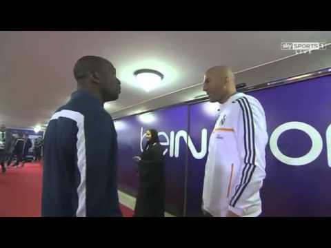 Zinedine Zidane with Claude Makelele   PSG vs Real Madrid, 02/01/14