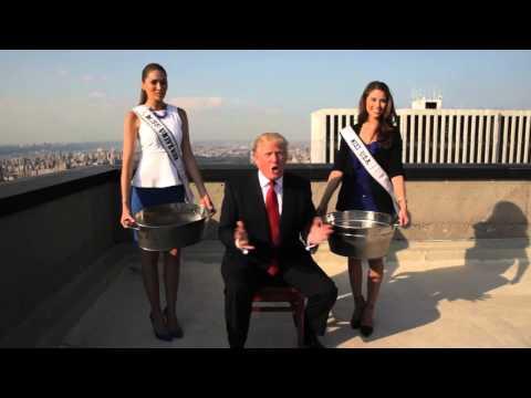 Miss Universe 2013, Gabriela Isler y Miss USA 2014 en el #IceBucketChallenge de Donald Trump