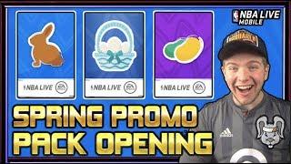 SPRING PACK OPENING & 100+ OVR PLATINUM SPRING BASKET PACKS! | NBA LIVE MOBILE 19 S3 SPRING PROMO