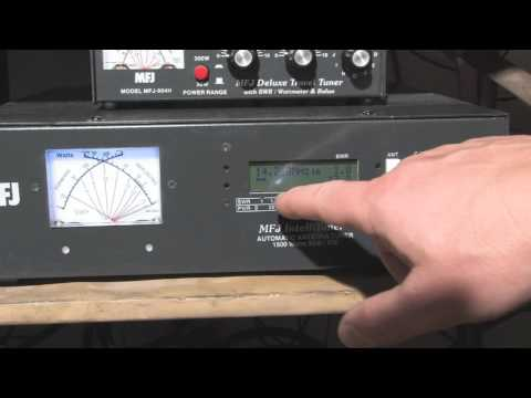 MFJ-998 1.5KW Auto Tuner Part 2 - Menu & Display Functions