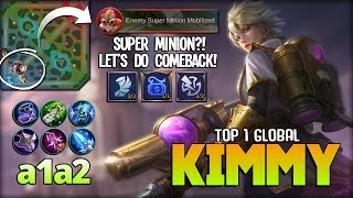Super Minion Can't Stop Me! Back to Mage Build?! a1a2 Top 1 Global Kimmy ~ Mobile Legends