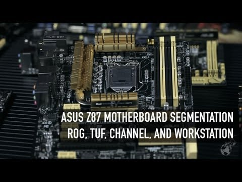 ASUS Z87 Motherboard Segmentation Overview - ROG. TUF. Workstation. and Channel