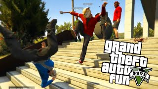 GTA 5 Next Gen Fun: Murder Maze Edition - Jump Scares, 1st Person, Chases