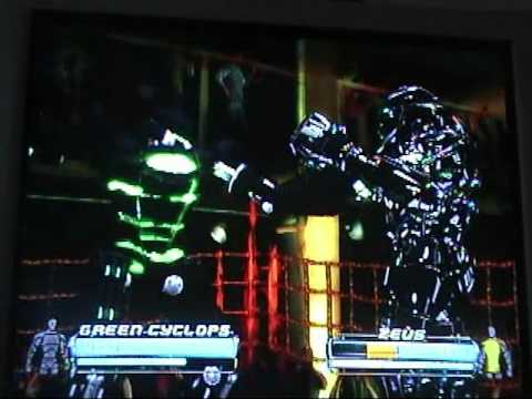 The real steel robots tech moves. using custom robots.