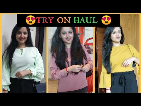 2018 TRY ON HAUL| MYNTRA HAUL| JABONG HAUL| Tops haul| jeans haul|