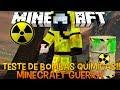 Minecraft Guerra 5 Teste de Bombas Químicas!! - Drops