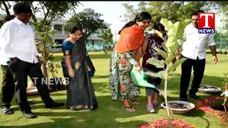 TRS Working President KTR Plants A Sapling in the Eve of CM KCR Birthday