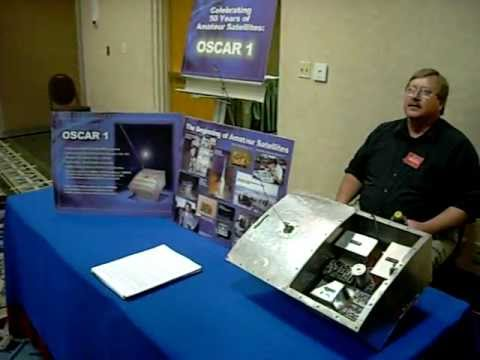 OSCAR 1 - 1st Amateur Radio Sat at AMSAT space symposium 2011 - San Jose,CA