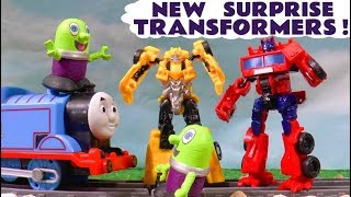Funny Funlings mission to find Transformers for Bumblebee and Optimus Prime with Thomas Train TT4U