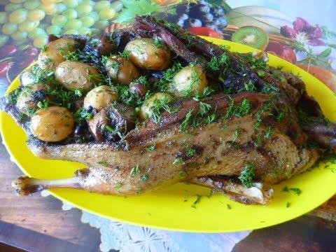 242Рецепт фаршированной утки картофелем и грибами
