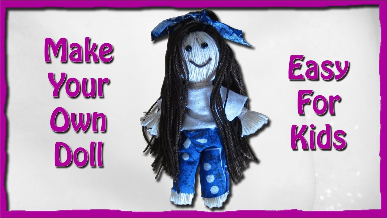 how to make a string doll an easy tutorial for kids