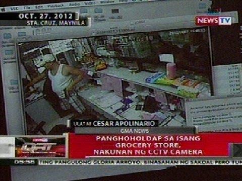 QRT: Panghoholdap sa isang grocery store sa Manila, nakunan ng CCTV camera