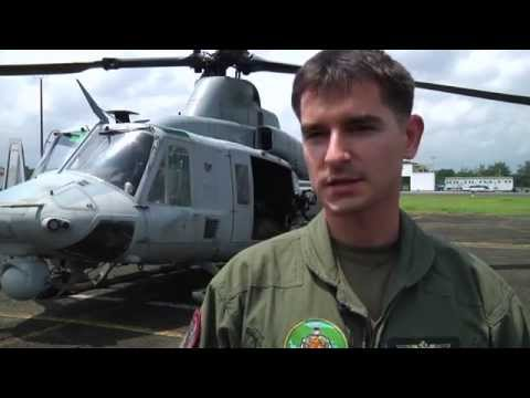 Marine Helicopter Pilots Train over the Philippines