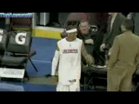 Allen Iverson debut (again) with Philadelphia 76ers againts Denver Nuggets - Highlights