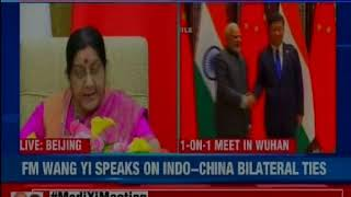 India-China joint address by EAM Sushma Swaraj and Chinese Foreign Minister Wang Yi