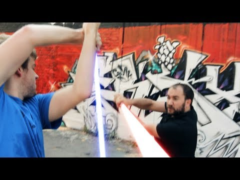 'Darth Waiter Strikes Back' (lightsaber fight) - wheezywaiter & Corey Vidal