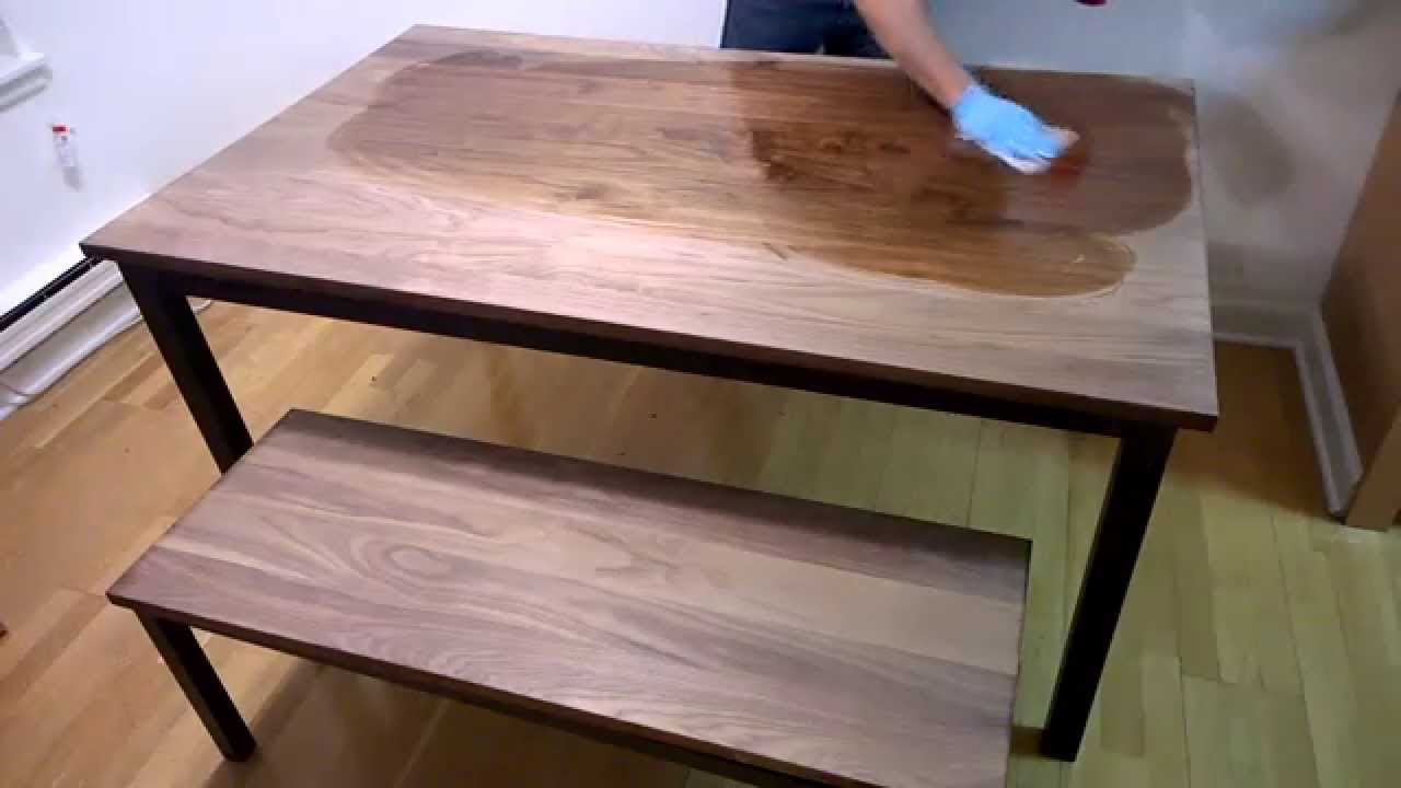 Real Milk Paint 100 Pure Tung Oil On Black Walnut Youtube
