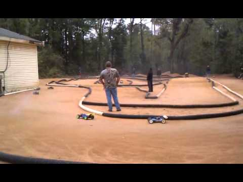 Man gets hit with Rc buggy.