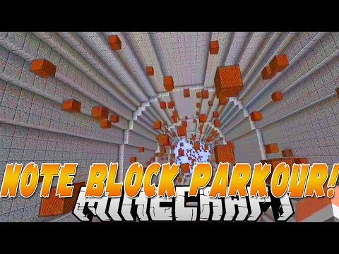 ♫MUSICAL NOTE BLOCK PARKOUR♫ (MINECRAFT) w/Kenny&PrestonPlayz!