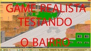 JOGO REALISTA BLENDER - TESTANDO O BAIRRO COM FISICA DE CARRO