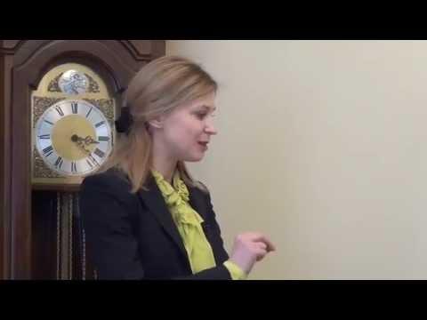 Natalia Poklonskaya, acting Prosecutor General of the Republic of Crimea; NEW with ENG SUBS