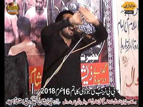 Zakir zeshan abbas jafri majlis aza 16 muharram 2018 zafarwal baipass narowal bani sayed sohany shah