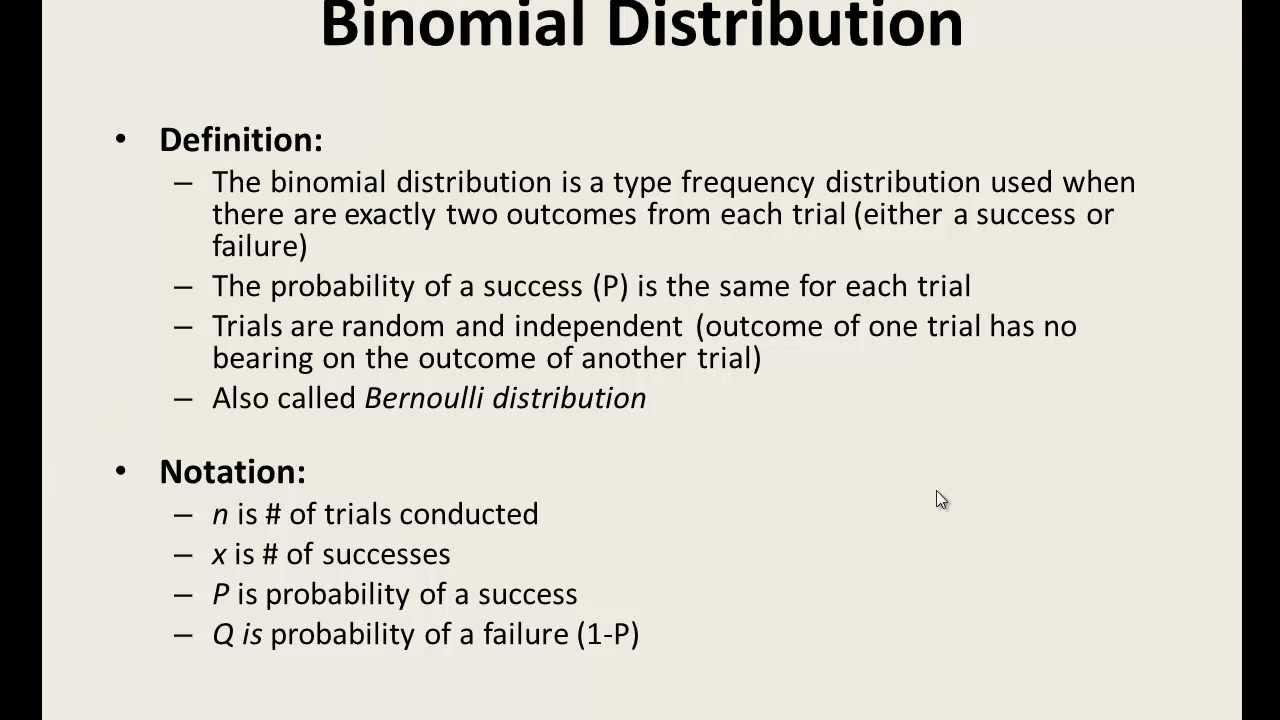 excel statistics 11 binomial distribution binom dist function youtube. Black Bedroom Furniture Sets. Home Design Ideas