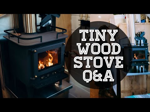 TINY Wood Stove in a Tiny House - Cubic Mini Wood Stove Review