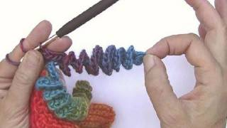 How to Crochet * Corkscrew spirals made easy * decoration for hats and scarfs