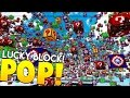 Minecraft CAPTAIN AMERICA, NYAN CAT AND MARIO LUCKY BLOCK POP CHALLENGE - Minecraft Modded Minigame