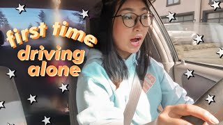 driving alone for the first time...*intense*