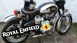 Modificacion Escape Royal Enfield Classic Chrome 500cc