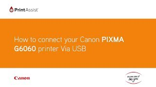 04. How to set up your Canon PIXMA G6060 MegaTank with your computer using a USB cable connection