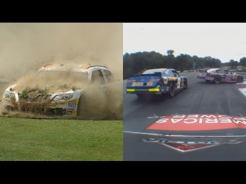 Drivers test the twists and turns @ 2014 NASCAR Nationwide Mid-Ohio
