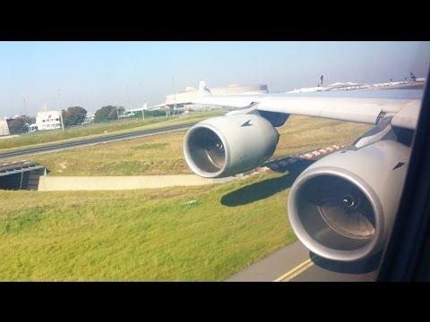 Qatar Airways A340 600 Takeoff @ Paris, Charles De Gaulle Airport, France 2011