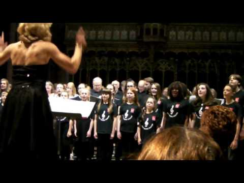 Bury Community Choir & Bury Young Voices   Manchester Medley   Manchester Catherdral   May 18 2016