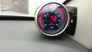 Engine oil pressure / voltage gauge LED KIA