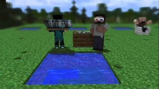 [Minecraft animation] Minecraft player School - Fishing